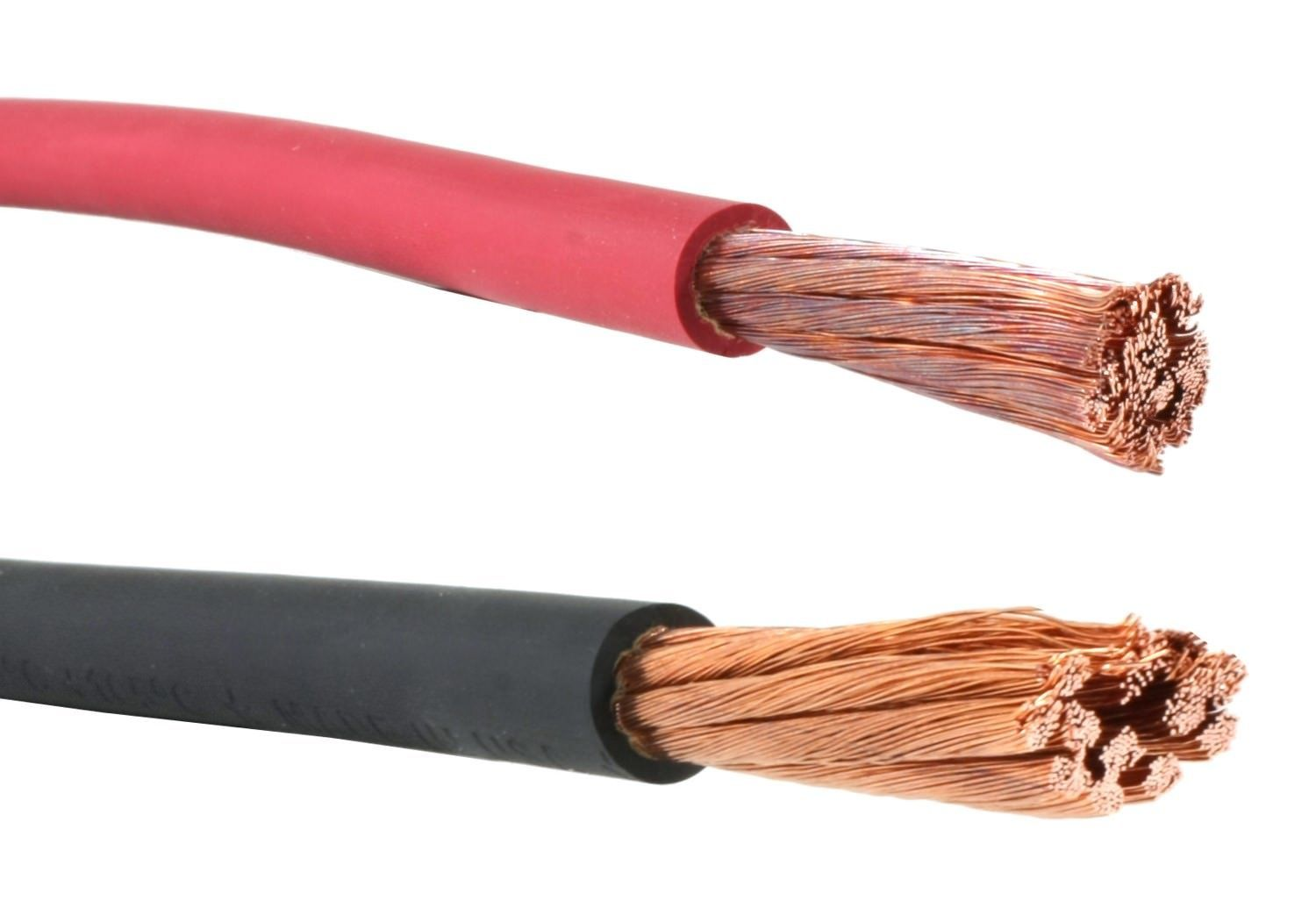2 Gauge Awg Flexaprene Welding Battery Cable Black And Red 600 V Made In Usa 100 Feet Of Each Color You Electrical Equipment Black And Red Rolling Pin