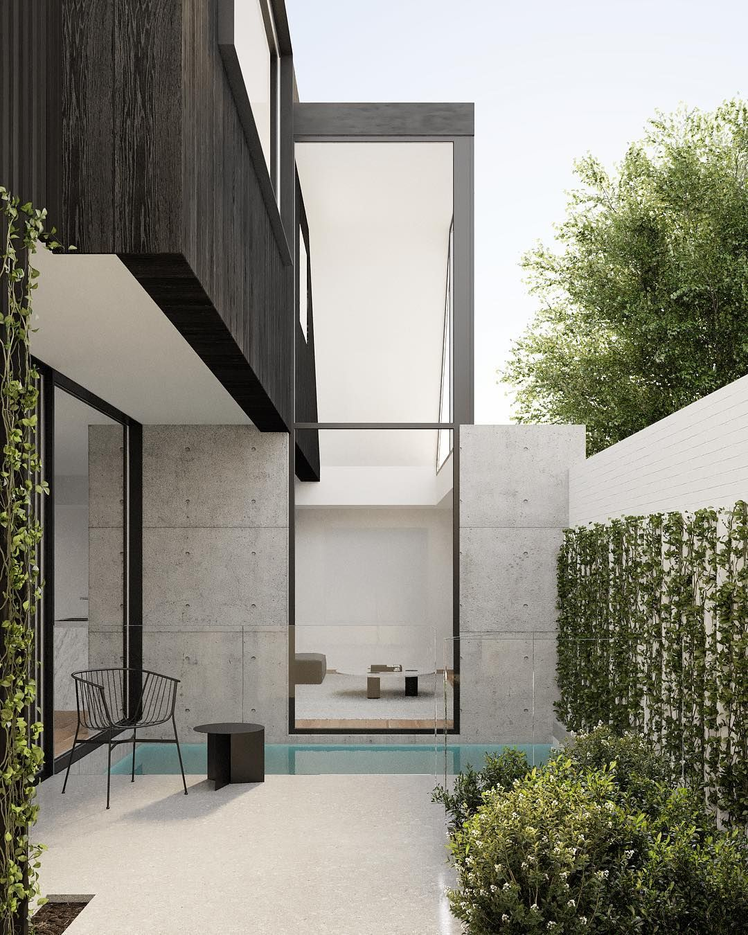Modern Townhouse Design With Rooftop Garden By Brett Webber Architects