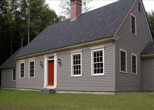 Clic New England Cape Code Style With Solid Wood Front Door Transom And 6 Over Six Windows