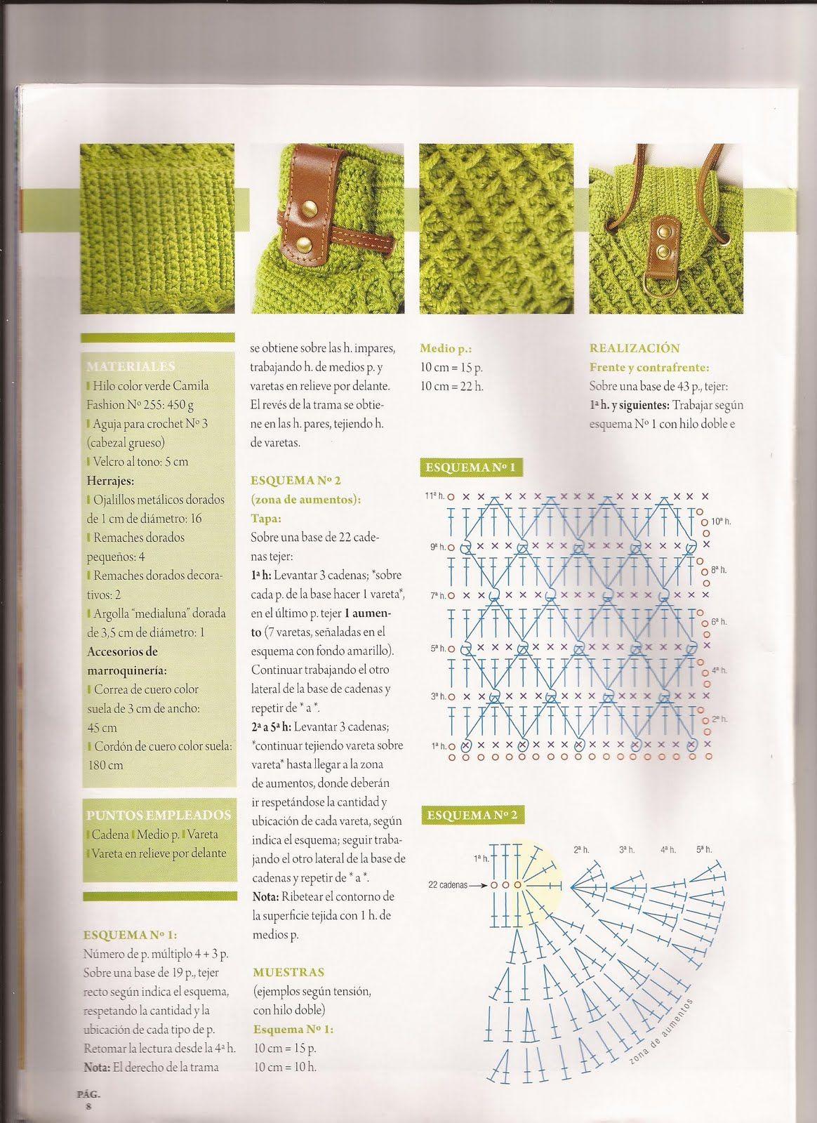 Pin de Annie Hong en Crochet Bags with Pattern | Pinterest | Bolsa ...