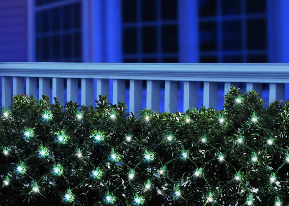 Net Light Set Green Wire Cool White 150 Bulbs Outdoor Yard Garden Seasonal Decor Holidaytime Christmas Lights Deck Lights Bulb
