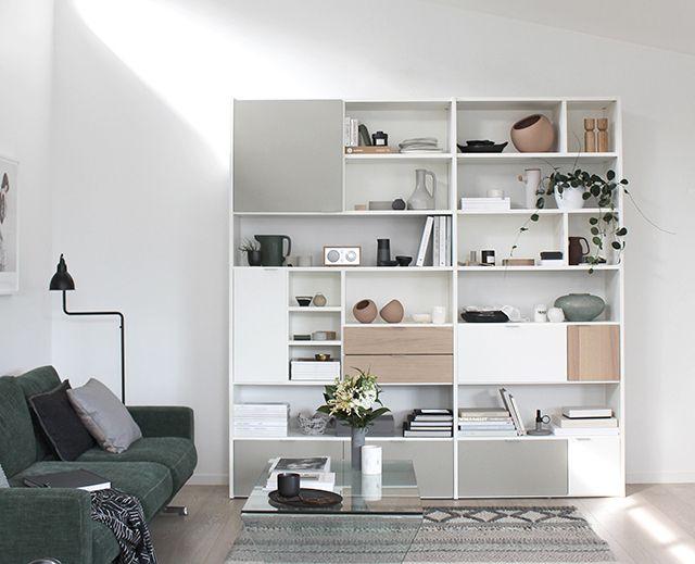 T d c boconcept carlton sofa and copenhagen wall system for Libreria carlton