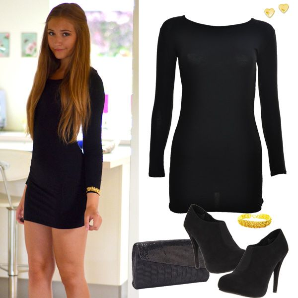 Black Bodycon Dress Outfit | Fashion Collages | Pinterest ...