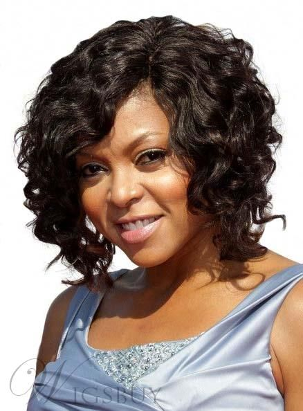 Short Curly Black Hairstyles Wigsbuy  #wigsbuy Fascinating Short Curly Black Lace Front Human