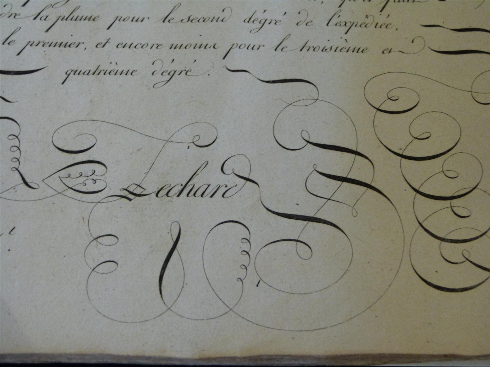 a calligraphie 18 eme siecle - Recherche Google