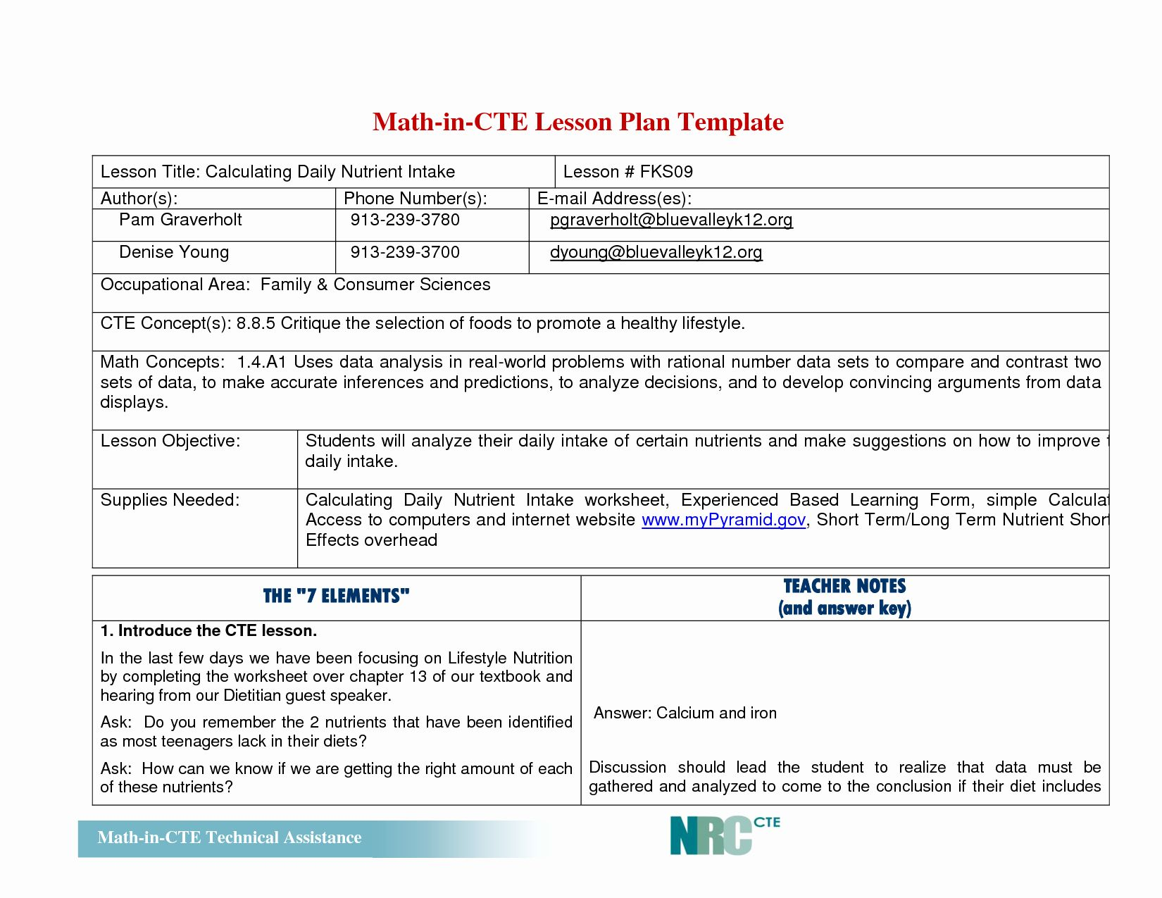Elementary Math Lesson Plan Template Lovely Best S Of Math Lesson Plan Template Math Lesson Lesson Plan Templates Math Lesson Plans Math Lesson Plans Template [ 1275 x 1650 Pixel ]