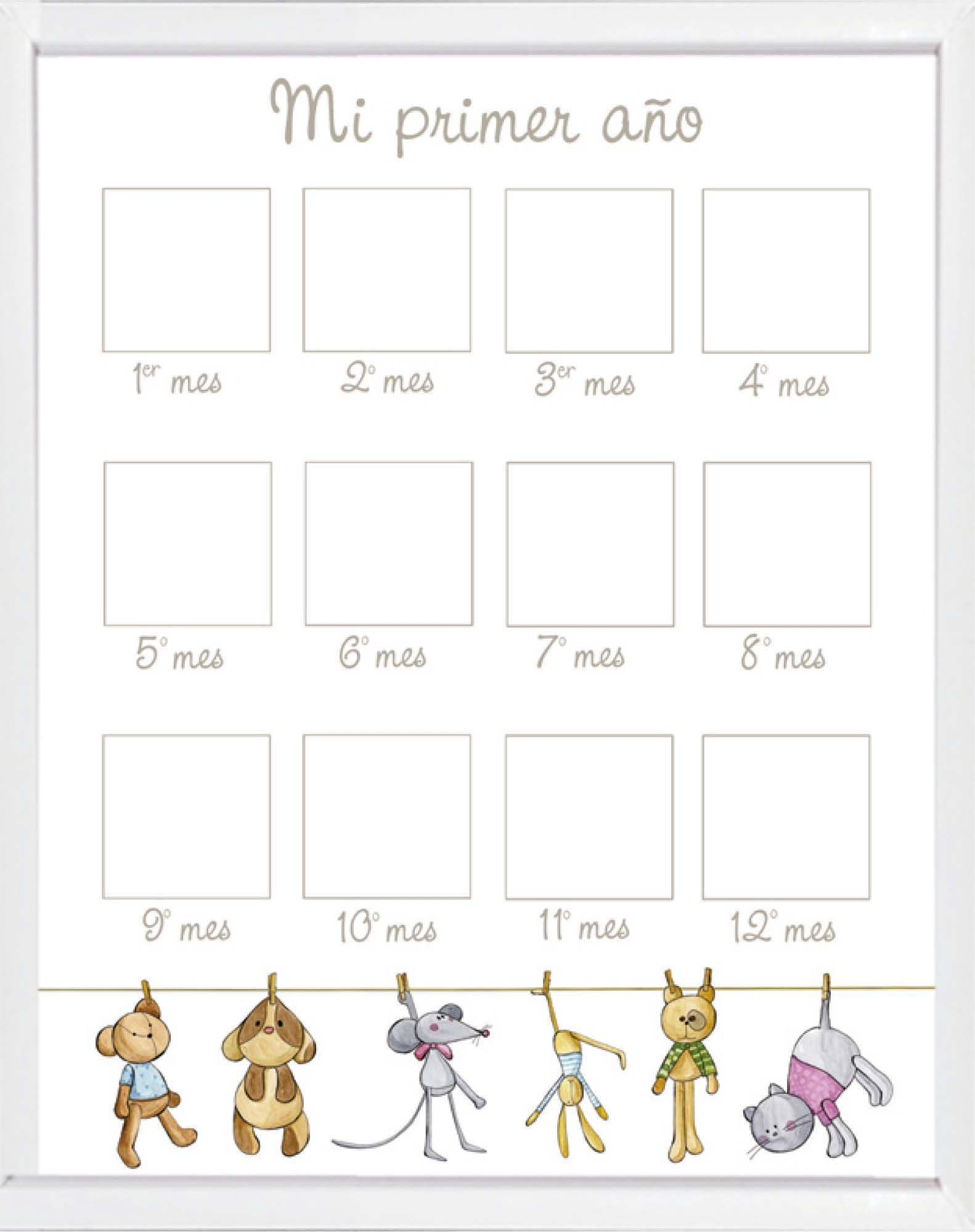 Cuadro fotos Primer año http://www.childrenandhome.es/es/regalos-nacimiento