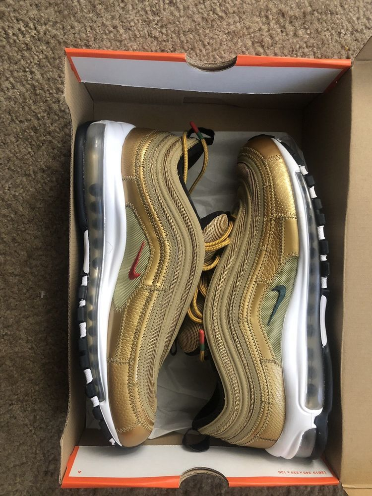 official photos 8a8d9 25aa1 Nike Air Max 97 OG Metallic Gold Italian Flag Italy Gold AJ8056-700  Authentic  fashion  clothing  shoes  accessories  mensshoes  athleticshoes  (ebay link)