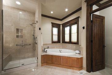 Corner Tub And Shower Stall Design Ideas, Pictures, Remodel ...