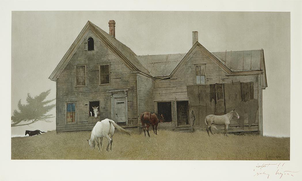 Andrew Wyeth - OPEN HOUSE, 1980, Color collotype | Джейми ...