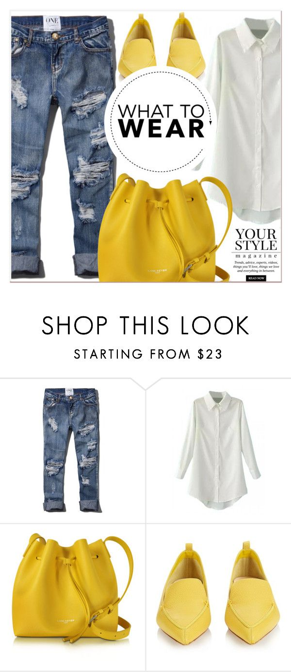 """""""What to Wear"""" by lucky-1990 ❤ liked on Polyvore featuring Abercrombie & Fitch, Lancaster, Nicholas Kirkwood and Pussycat"""
