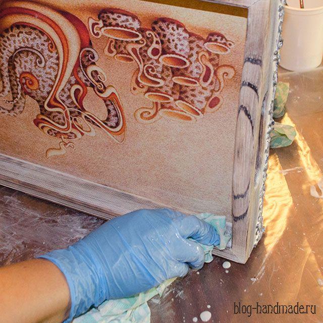 Пошаговый мастер класс по декупажу, как сделать красивый декор деревянного подноса