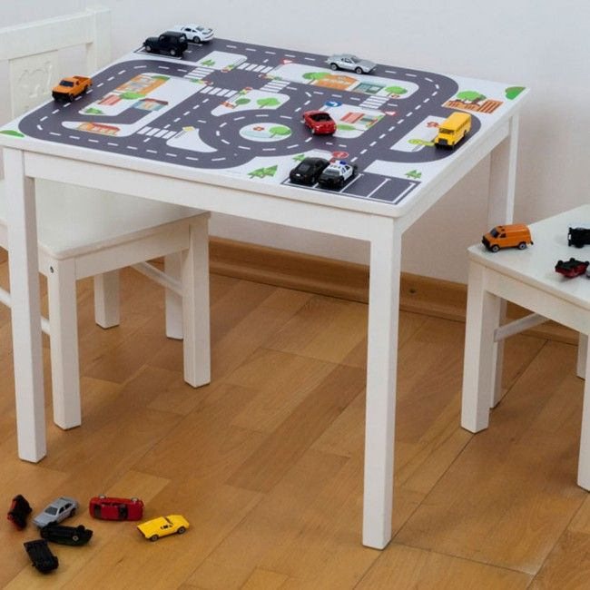 Ikea Kindertisch möbelfolie kleine stadt für ikea kritter kindertisch 59x50 cm 01