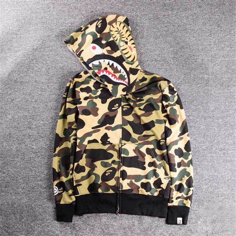 9fbddc43647f Hot BAPE A Bathing Ape Hoodie Sweats Camo Men s Shark Head Full Zip Coat  Jacket  fashion  clothing  shoes  accessories  mensclothing  activewear  (ebay link)