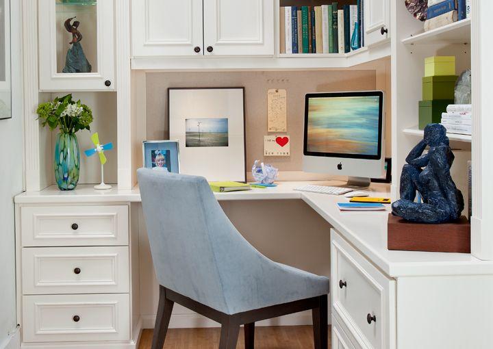 Home Design Ideas Pictures: Painted Maple Corner Office - TransFORM