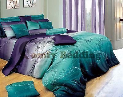 Twilight Design Luxury 100 Cotton Bedding Set Duvet Cover Set Or Accessories Ebay Full Bedding Sets Teal Bedroom Home