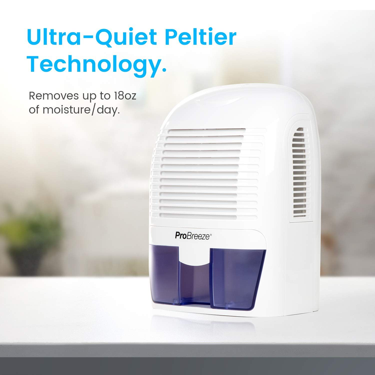 Pro Breeze Electric Mini Dehumidifier 2200 Cubic Feet 250 Sq Ft Compact And Portable For High Humidity In Home Dehumidifiers Mini Dehumidifier Cubic Foot