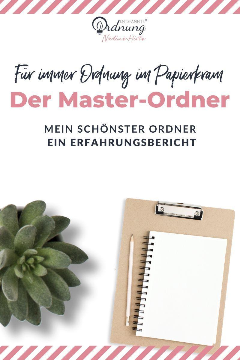 Der Master Ordner Fur Immer Ordnung Im Papierkram Schone