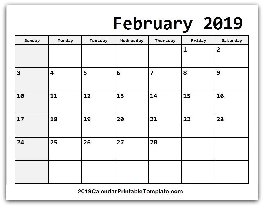 Pin by 2019Calendarprintabletemplate on February 2019 Calendar in
