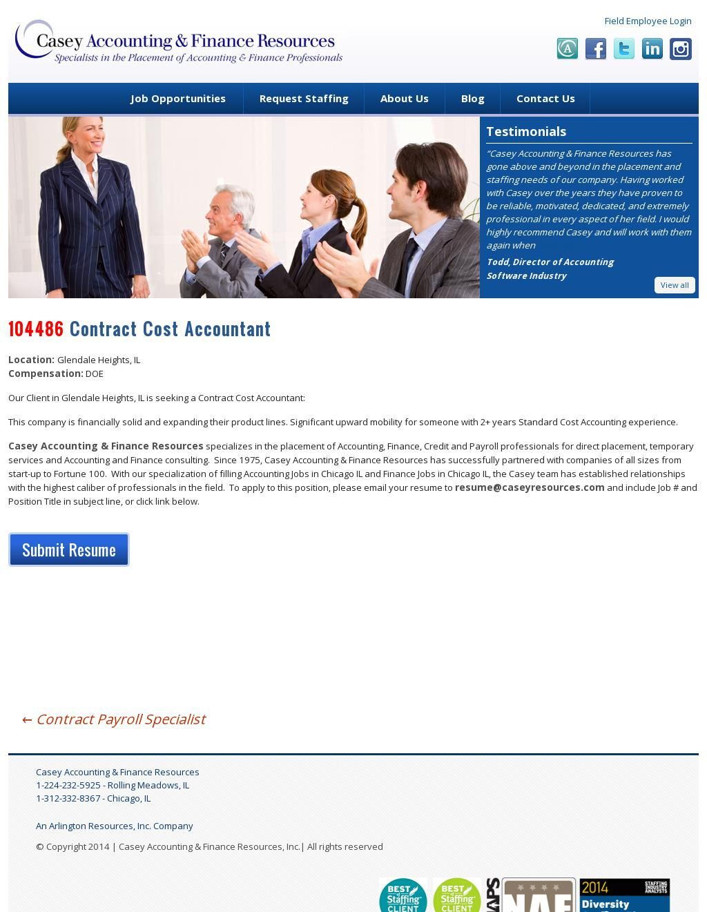 Contract cost accountant accounting and finance