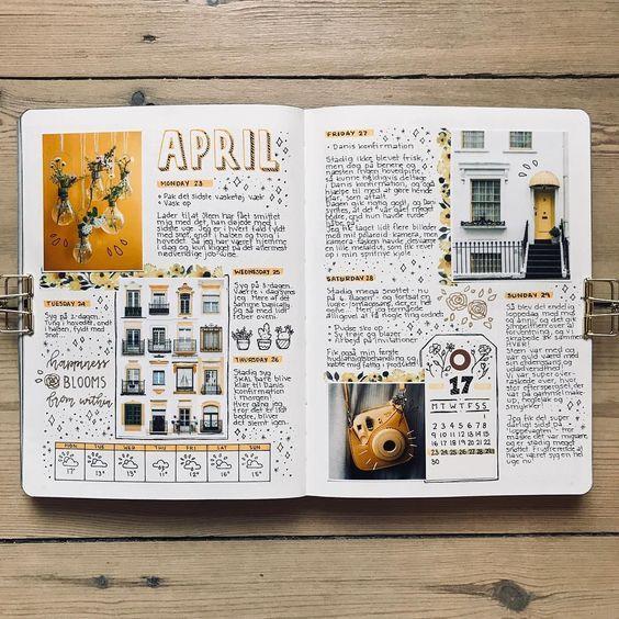Bullet journal: 10 weekly spreads lindos! #scrapbook