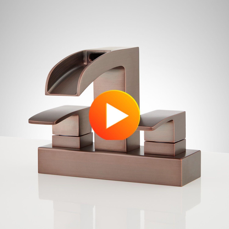 Stevens Centerset robinet cascade overflow en bronze huilé | Matériel Signature