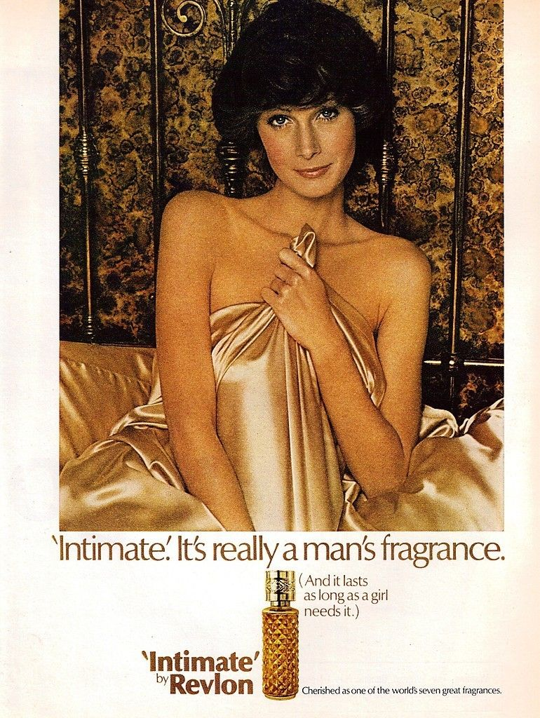 INTIMATE by Revlon...husband loved this but I always thought it smelled like gin! Pretty racy ad for early 1960s.