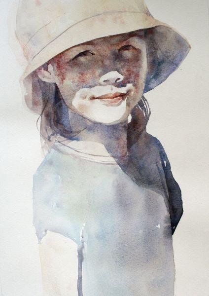 Zosia By Ania Rogala Watercolor Portrait Painting Watercolor Portraits Portrait Painting