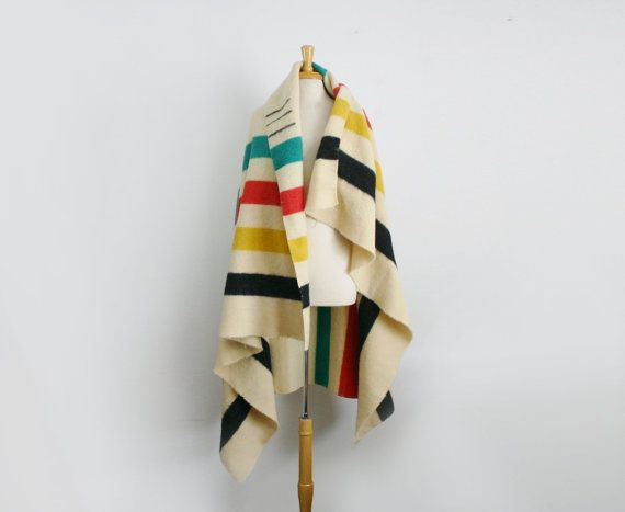 Vintage Hudson Bay Company 3 point wool blanket by TheArborVitae, $67.00