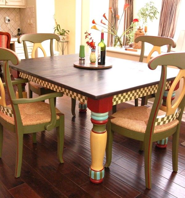 Mackenzie~Childs Inspired  Mackenzie Childs Inspired Tv Simple Painted Dining Room Table Ideas Review