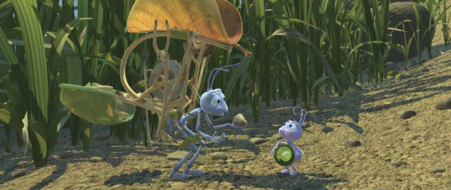 """Flick: """"Pretend it's a seed, okay?""""  Dot: """"But it's a rock!"""""""