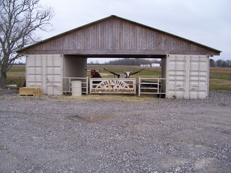 Isbu Shipping Container Livestock Barn...order Two Cargo Containers U0026 Roof  Trusses Delivered