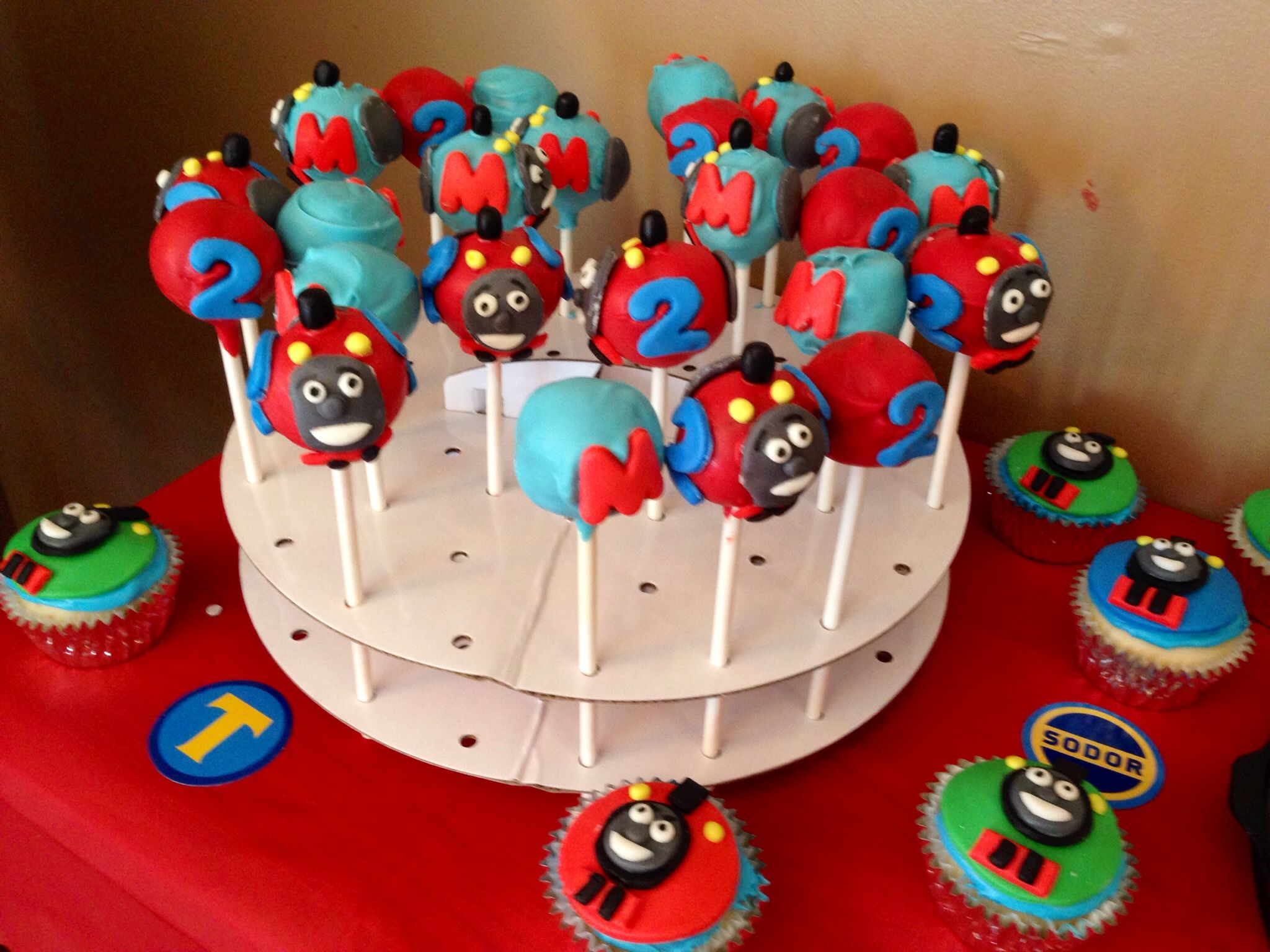 Thomas The Train Cake Pops