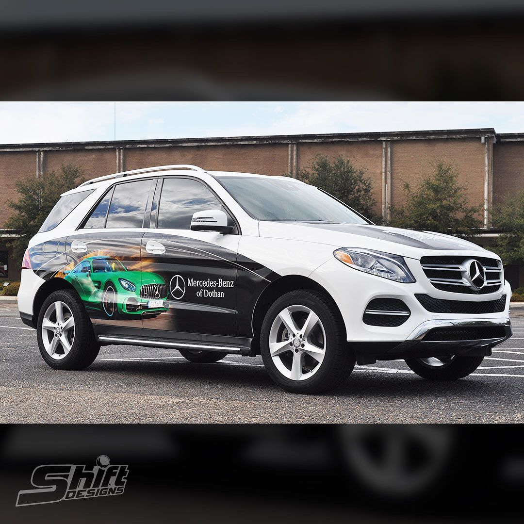 Full Color Partial Wrap For Mercedes Benz Of Dothan Printed On 3m