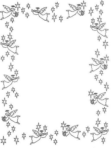 Bordas Christmas Coloring Pages Borders And Frames Borders For Paper