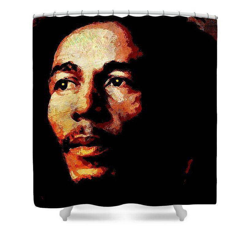 Robert Nesta Bob Marley Shower Curtain Featuring The Painting Bob Marley By Otis Porritt With Images Bob Marley Cool Shower Curtains Purchasing Art
