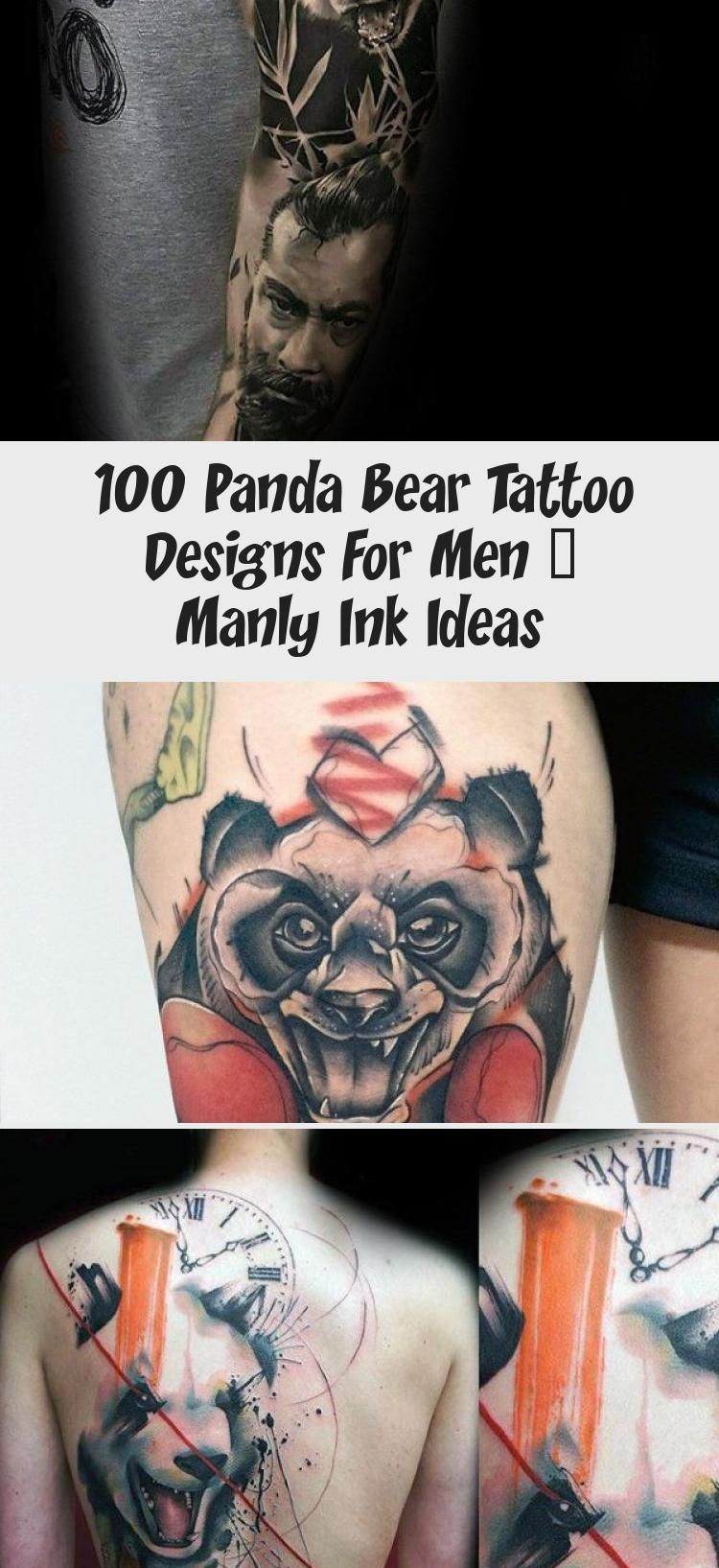 100 Panda Bear Tattoo Designs For Men – Manly Ink Ideas ... - photo#34