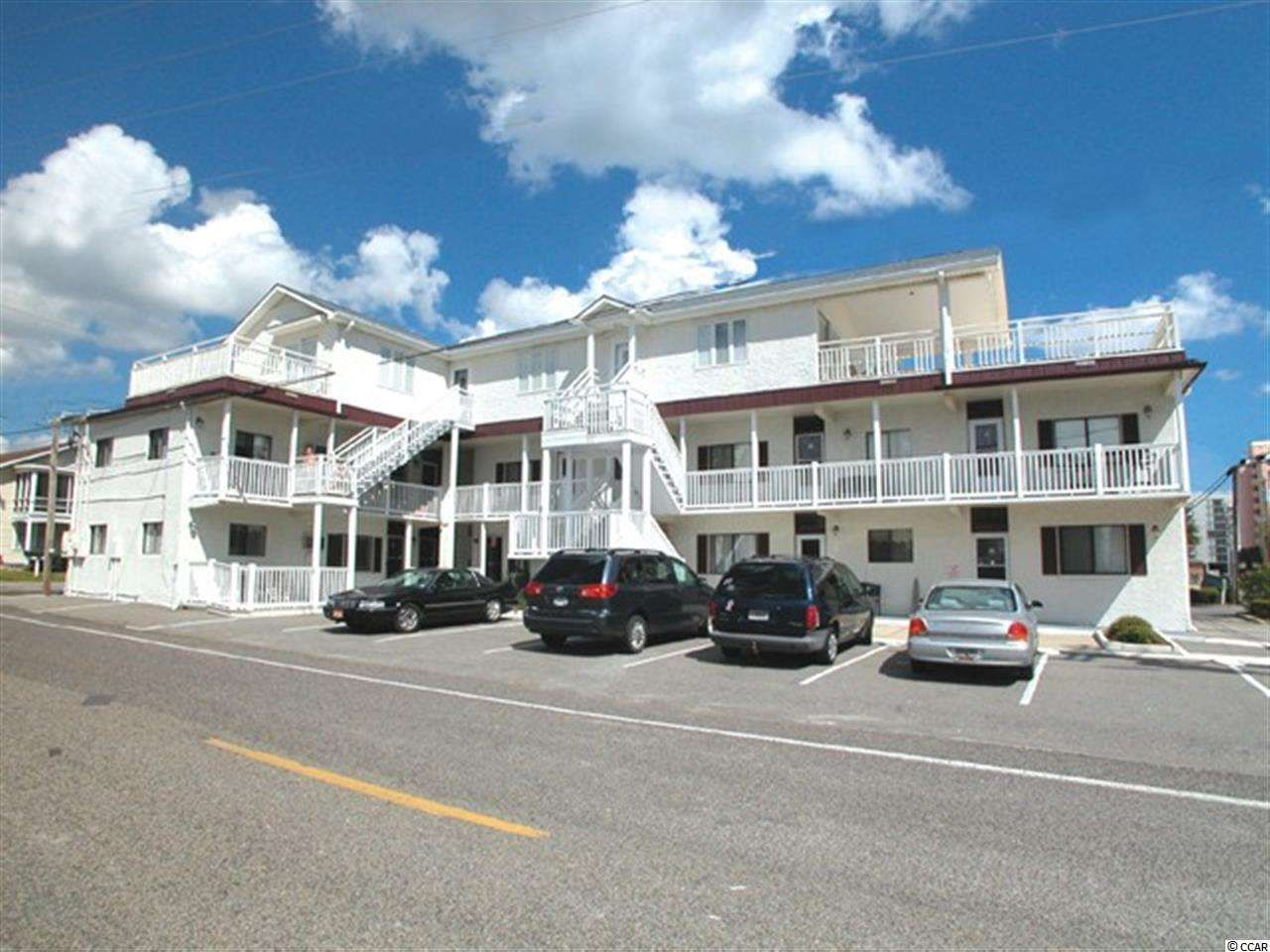 Ocean view furnished two bedroom condo deal in Crescent Beach. Low HOA fees. Washer & Dryer onsite. Great Crescent Beach location with quick access to Barefoot Landing and all Myrtle Beach attractions, world-class golf, outlet shopping, incredible restaurants and top-notch entertainment.  Public beach access across the street and walking distance to Molly Darcy's restaurant. Owner allowed pets. Perfect vacation retreat.  Square footage is appr...