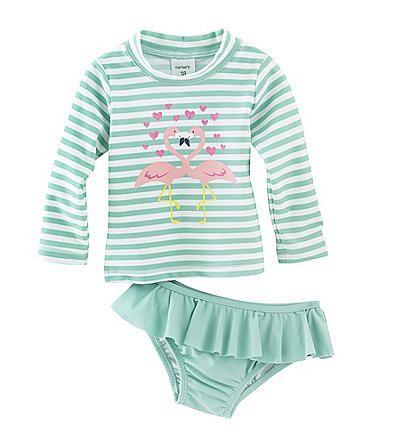 Carter's® Baby Girls' 2-Piece Flamingo Swim Set | Herberger's