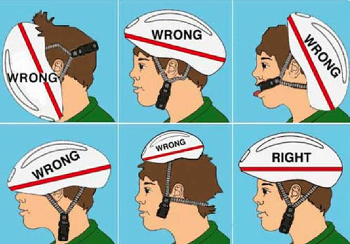 The Proper Way To Wear A Bicycle Helmet Tumblr Drole Message