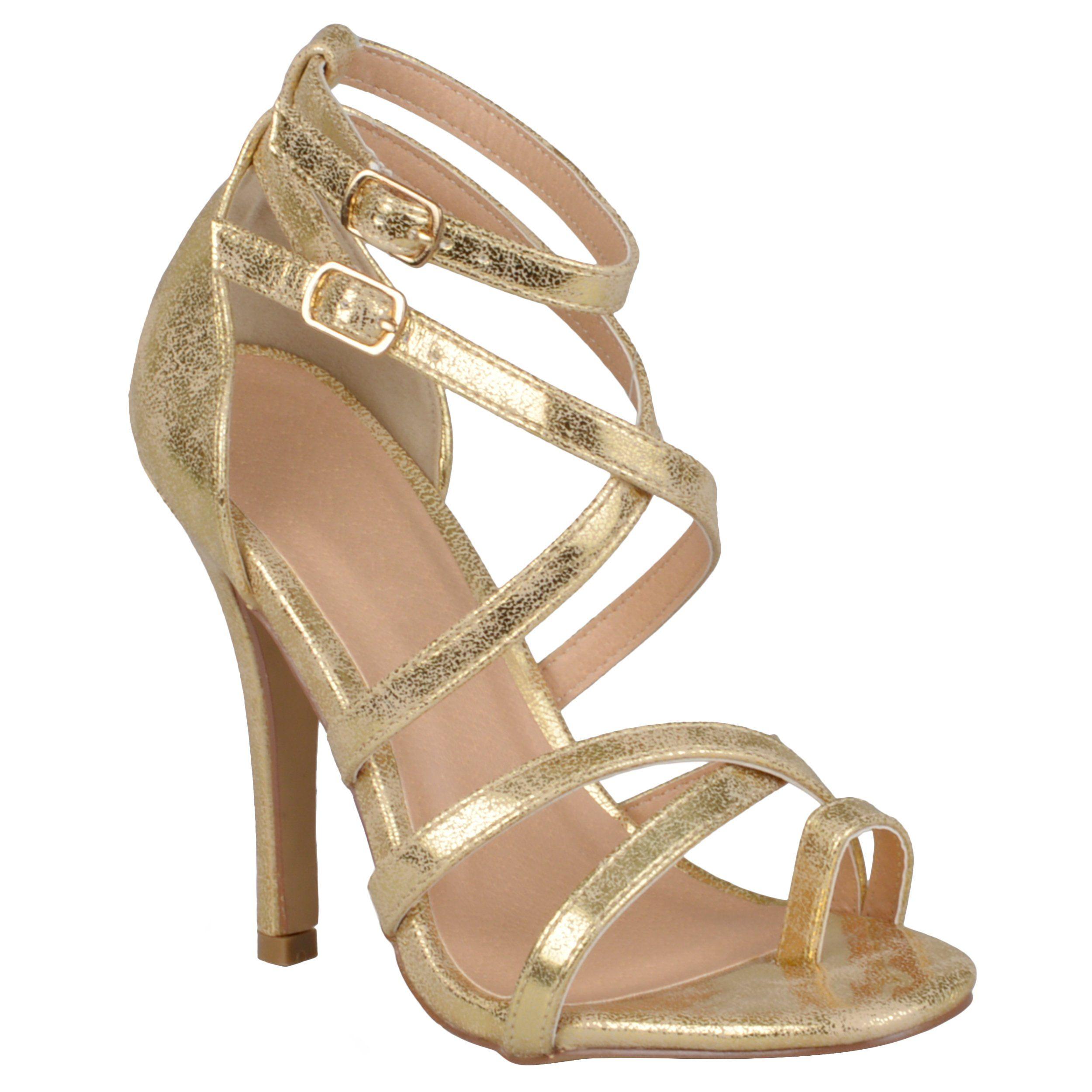 Brinley Co. Womens Strappy High Heel Sandals