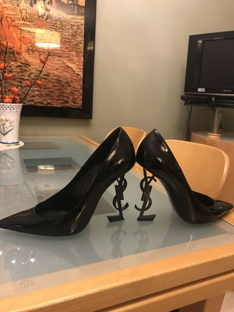 813d55cb228b Yves Saint Laurent YSL Opyum Opium 110 Black Patent Leather Heel Pump EU 39   fashion  clothing  shoes  accessories  womensshoes  heels (ebay link)