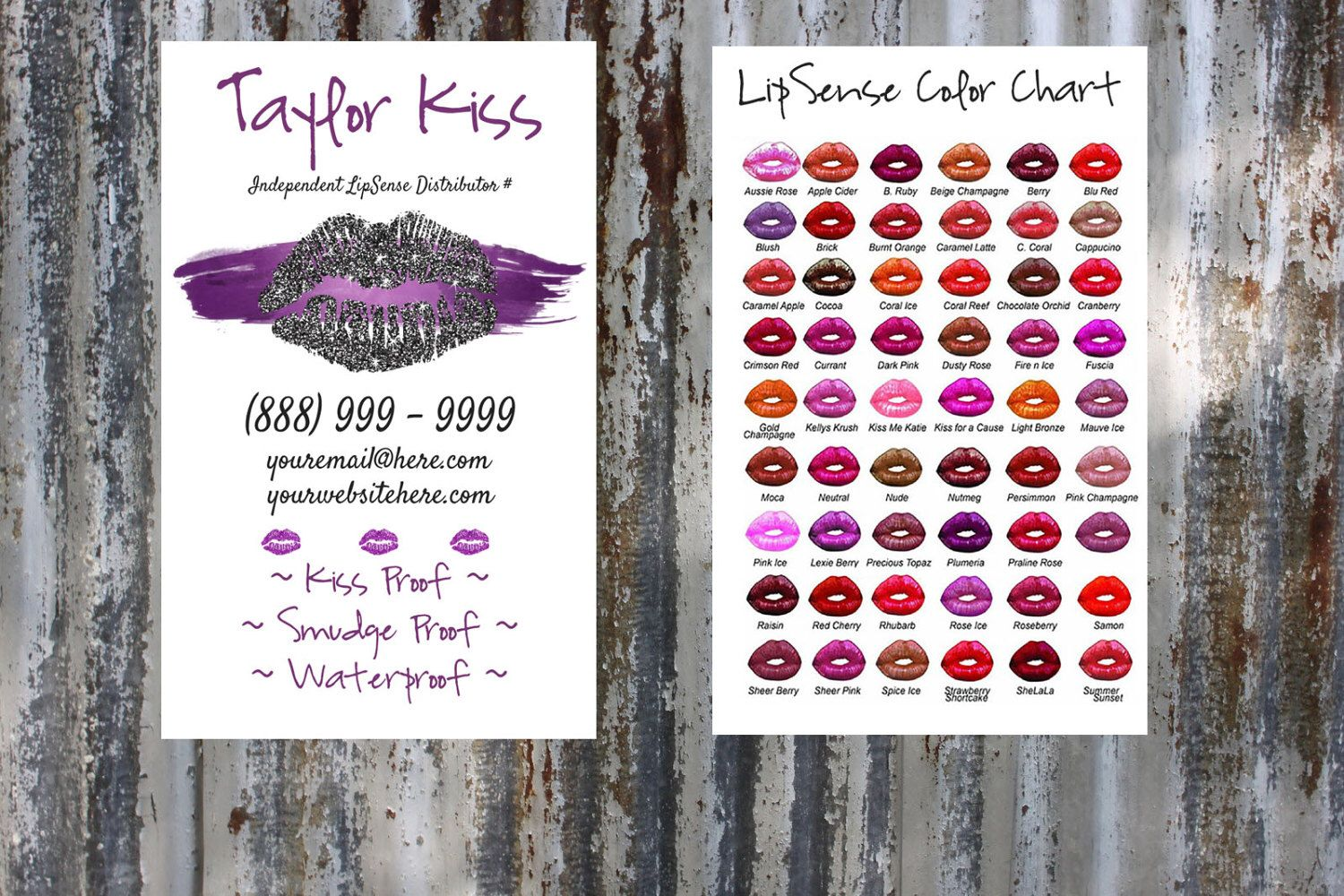 PurpleBlack Lipsense Business Card Download Template Personalized