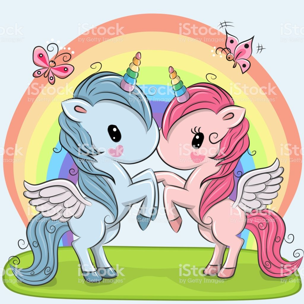 Cute Unicorns on a rainbow background royalty-free cute unicorns on a rainbow background stock vector art & more images of unicorn