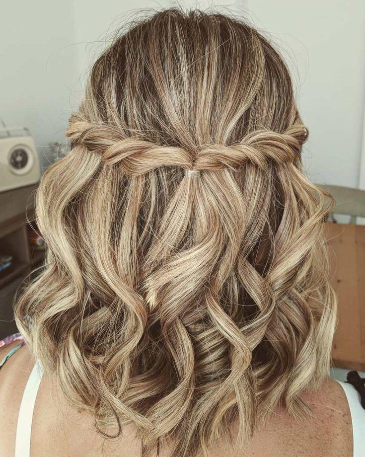 60 Trendy updos for medium-length hair – Bridesmaid hair – for hairstyles 60 Trendy updos for medium-length hair - Bridesmaid hair - for hairstyles - -