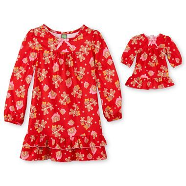 Dollie   Me® Gingerbread Flannel Nightgowns – Girls 4-12 - jcpenney ... c157cee16