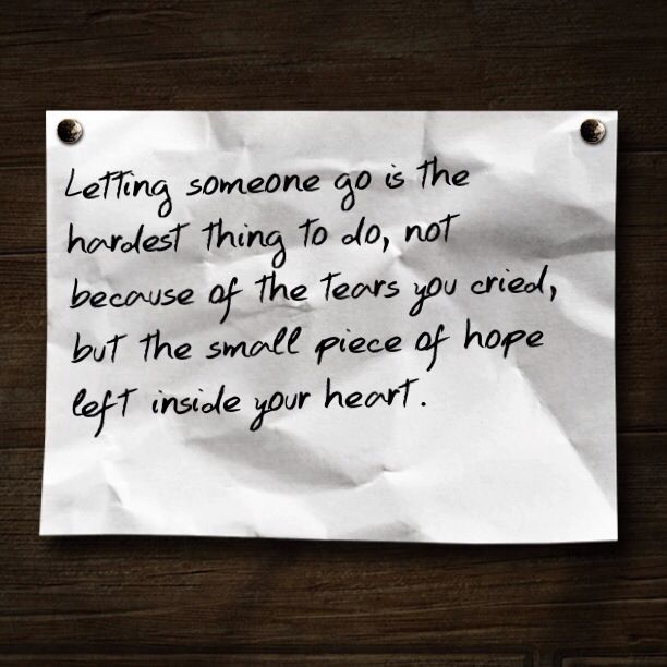 The small piece of hope left in your heart