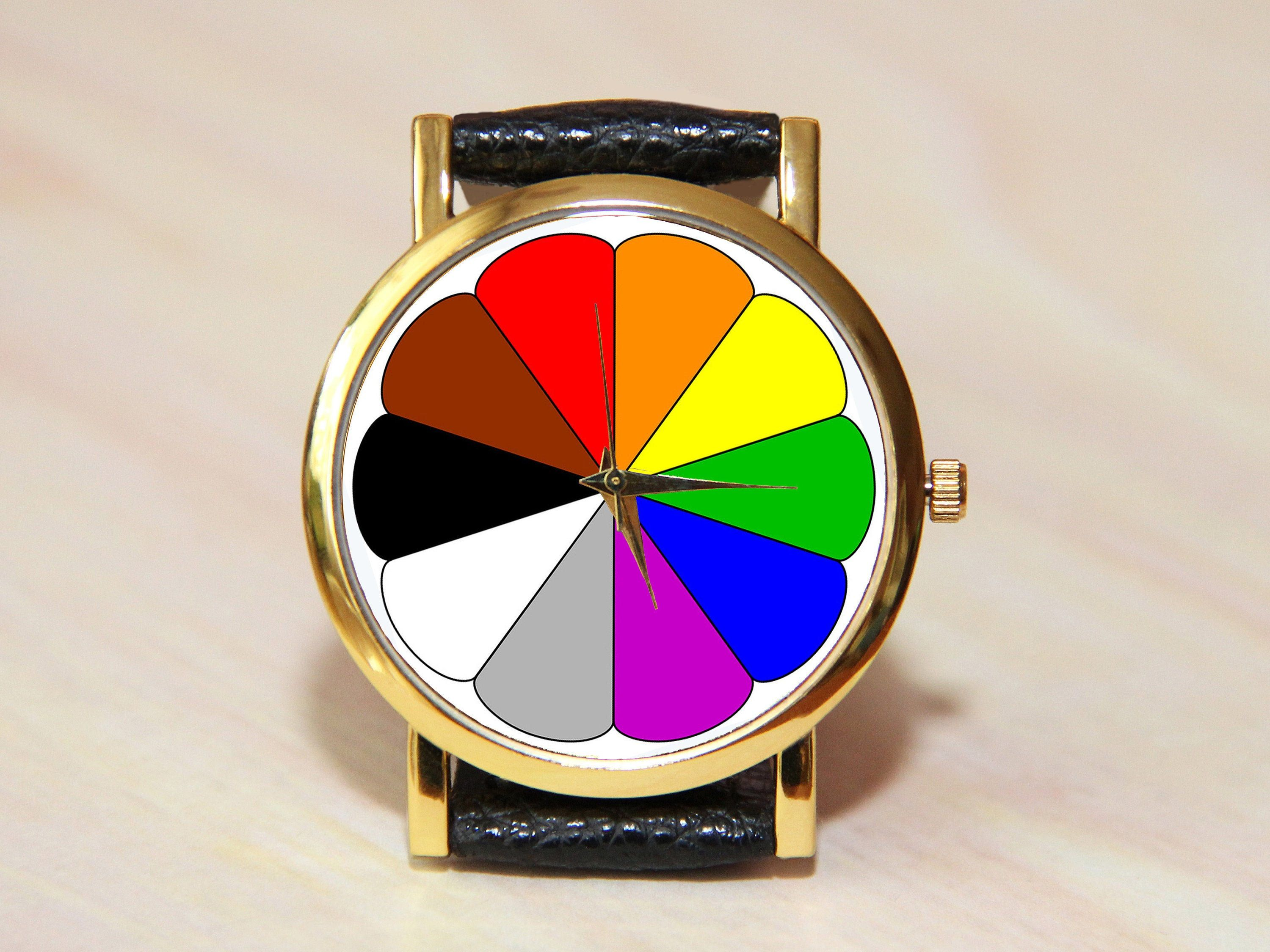 Color Wheel Watches Minimalist Color Watches Women S Etsy In 2020 Modern Watches Automatic Watches For Men Mens Fashion Watches