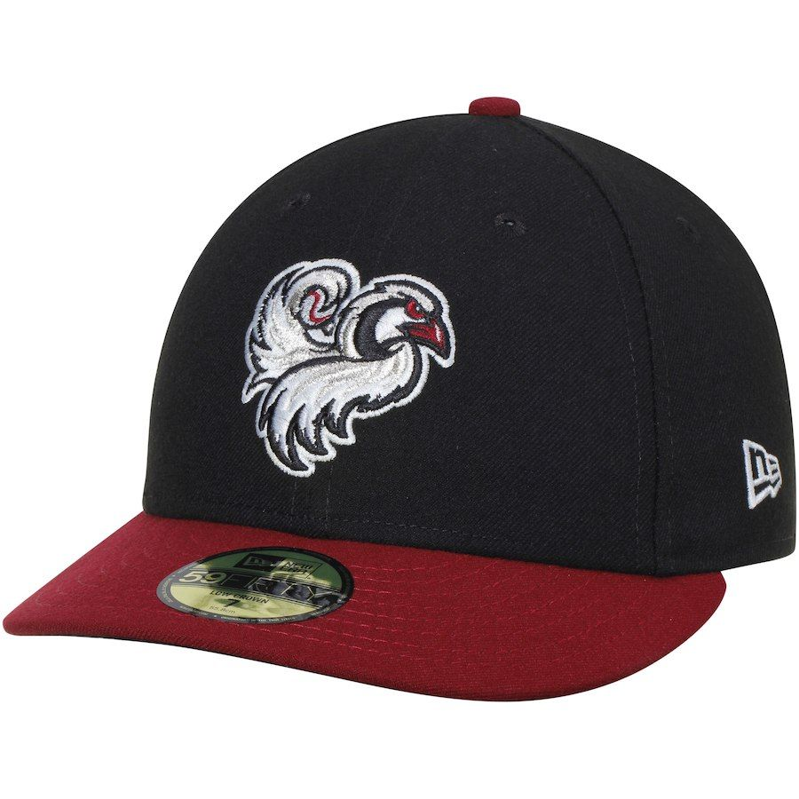 27eded08e58 Men s Idaho Falls Chukars New Era Black Purple Home Authentic Collection  On-Field Low Profile 59FIFTY Fitted Hat