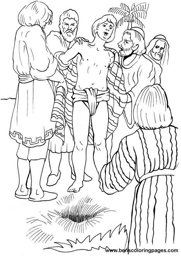 joseph and the coat of many colors coloring page - Google Search ...